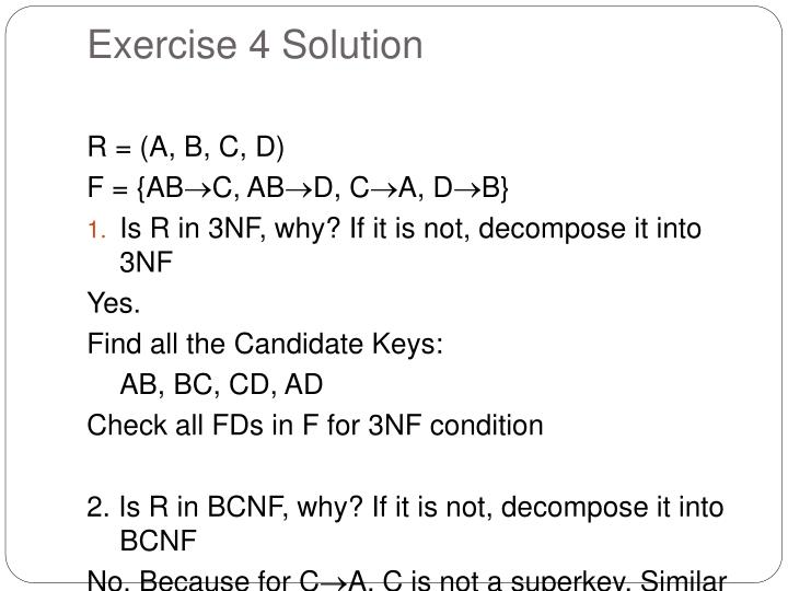 Exercise 4 Solution