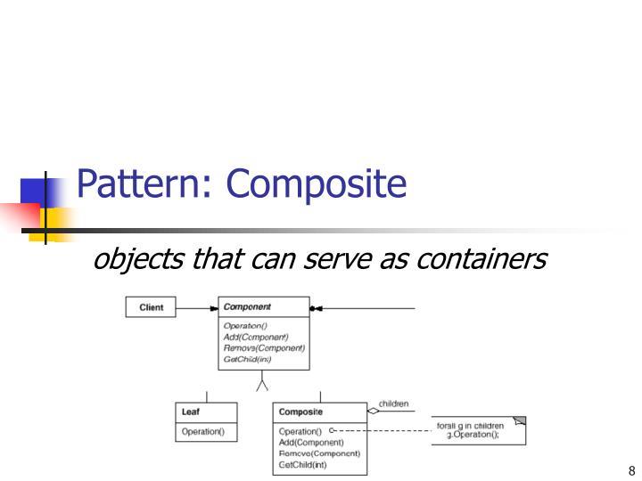 Pattern: Composite