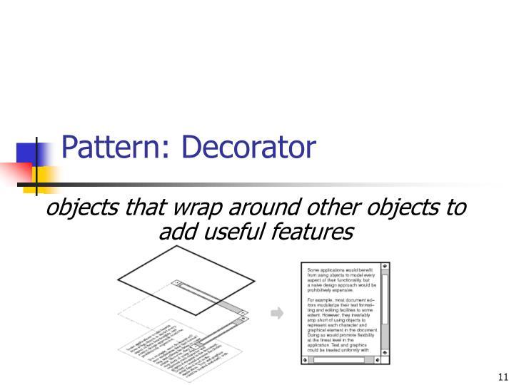Pattern: Decorator