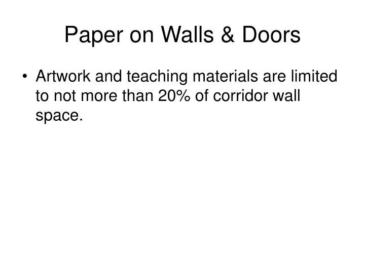 Paper on Walls & Doors