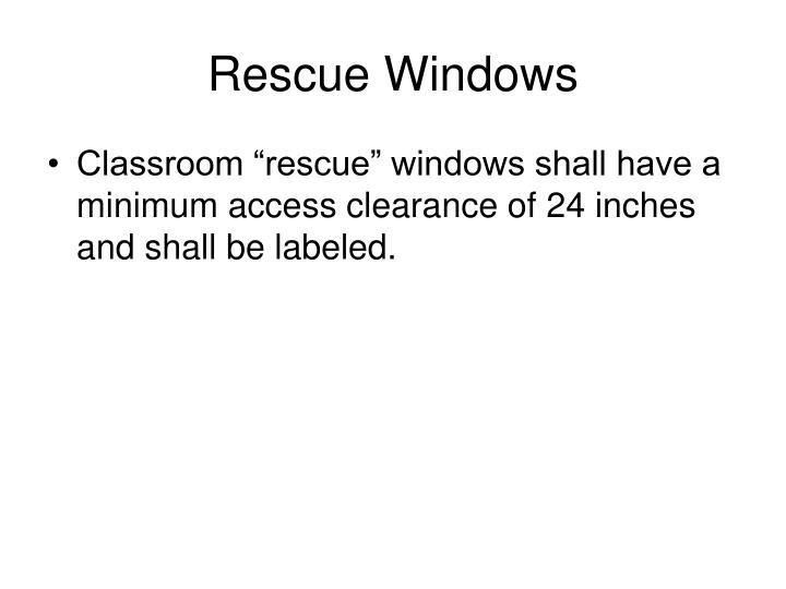 Rescue Windows