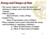 energy and changes of state2