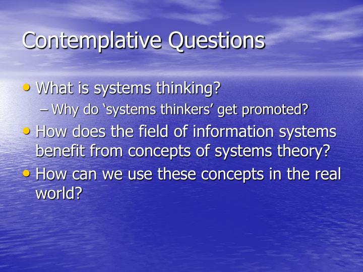 Contemplative Questions
