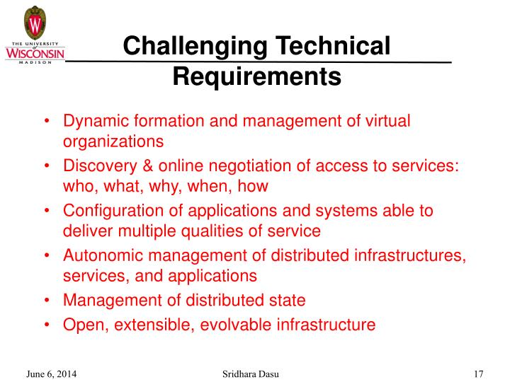 Challenging Technical Requirements