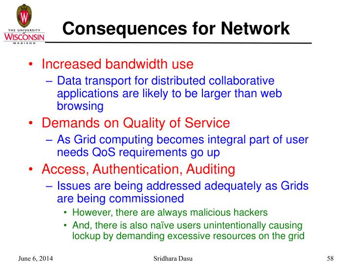Consequences for Network