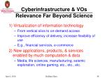 cyberinfrastructure vos relevance far beyond science