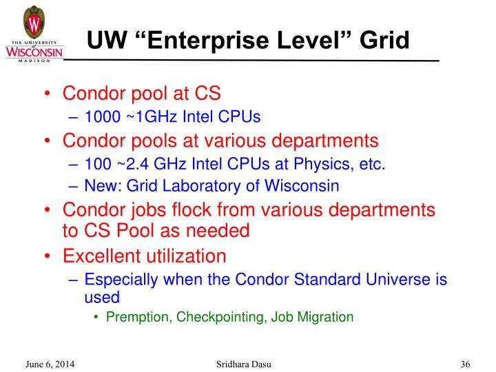 "UW ""Enterprise Level"" Grid"