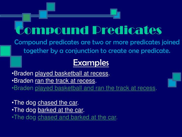 Compound Predicates