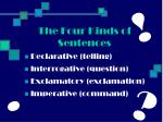 the four kinds of sentences