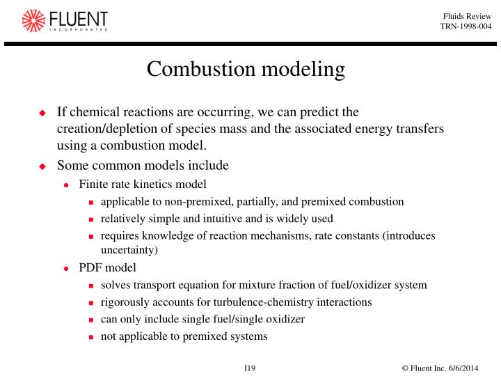 Combustion modeling
