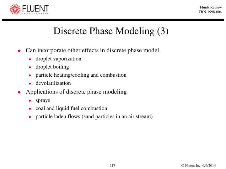 Discrete Phase Modeling (3)