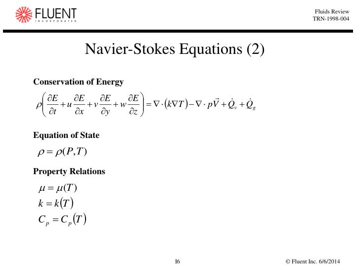 Navier-Stokes Equations (2)