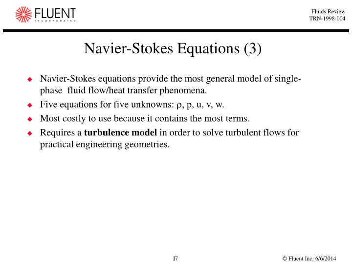 Navier-Stokes Equations (3)