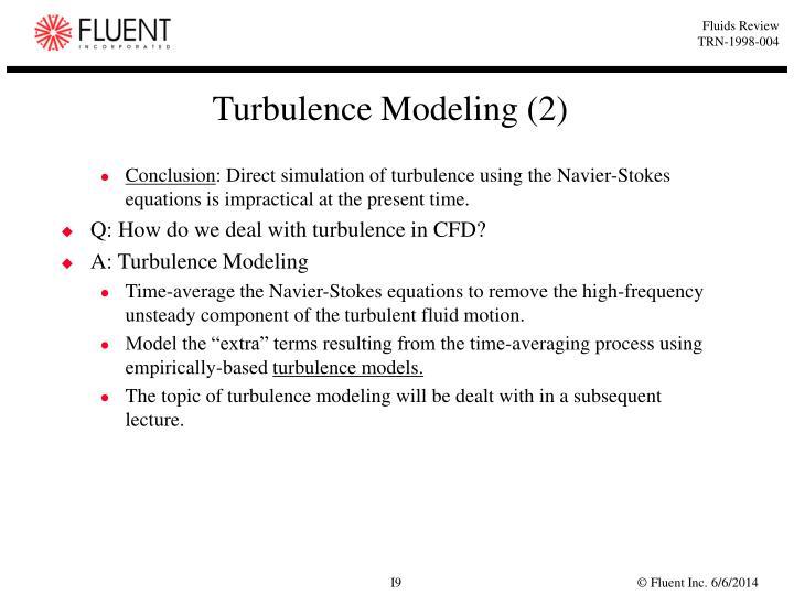 Turbulence Modeling (2)