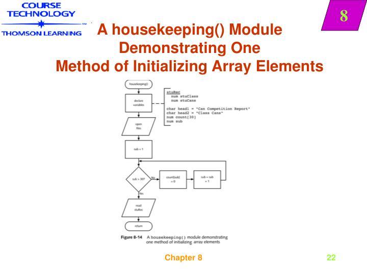 A housekeeping() Module