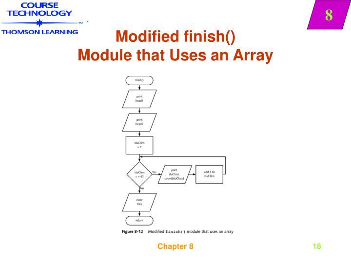 Modified finish()