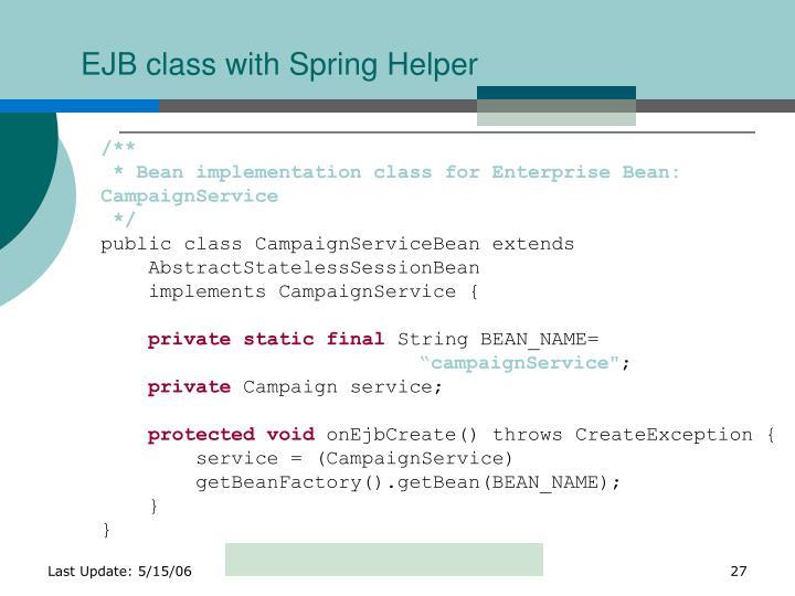 EJB class with Spring Helper
