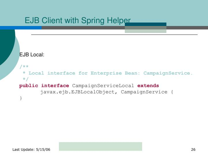 EJB Client with Spring Helper