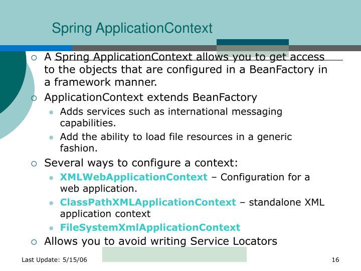 Spring ApplicationContext