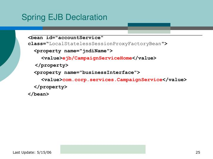 Spring EJB Declaration