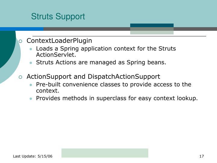 Struts Support