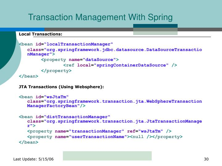 Transaction Management With Spring