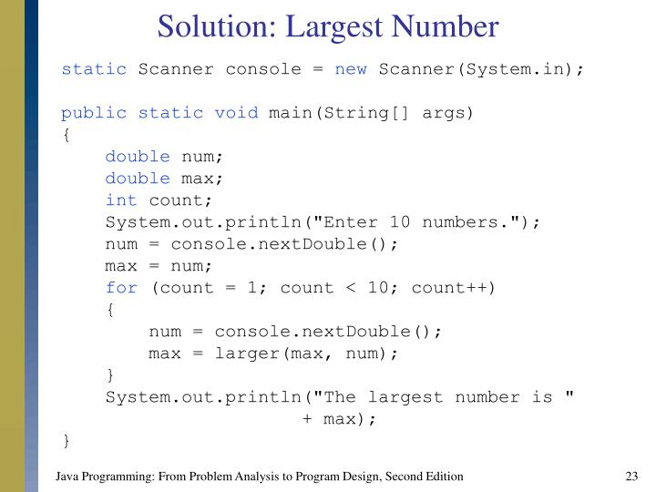 Solution: Largest Number