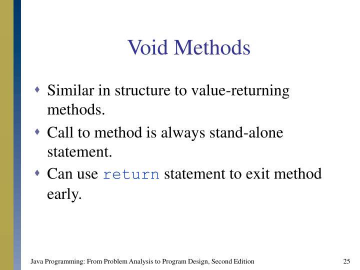 Void Methods
