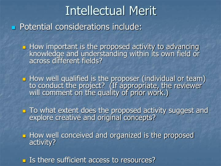 Intellectual Merit