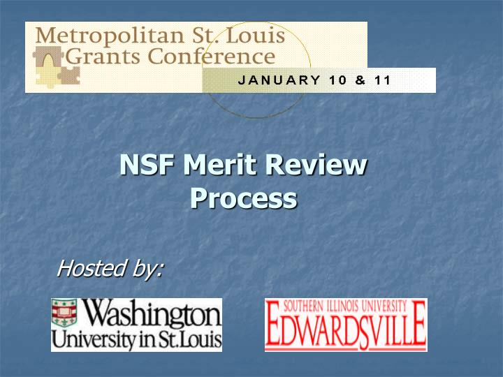 NSF Merit Review