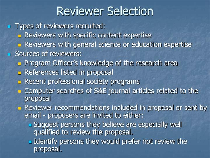 Reviewer Selection
