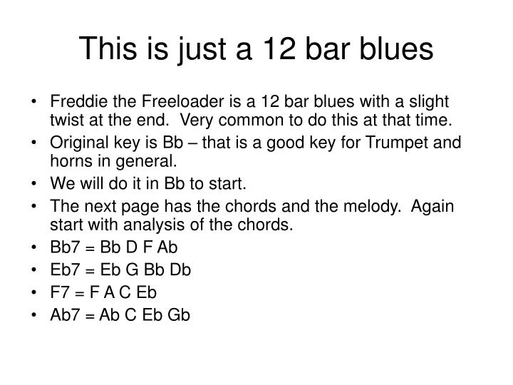 This is just a 12 bar blues