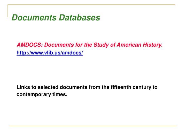 Documents Databases
