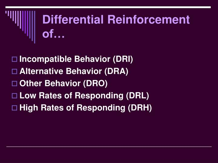 Differential Reinforcement of…