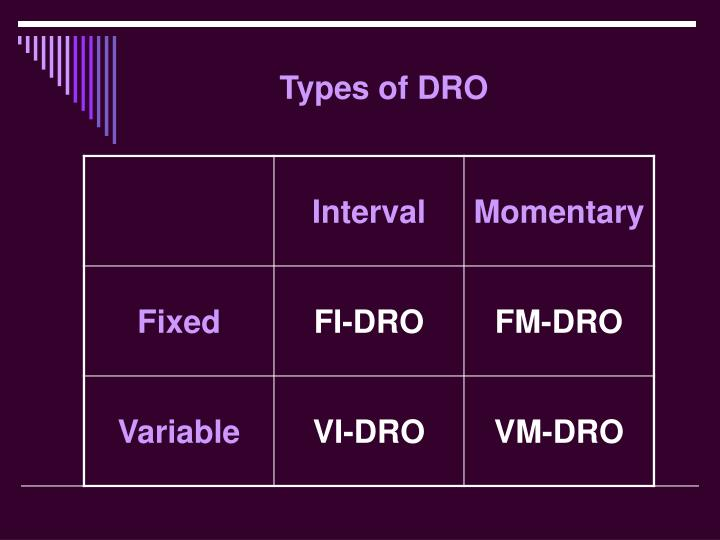 Types of DRO