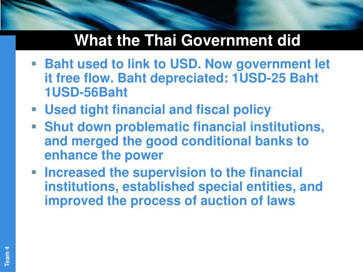 What the Thai Government did