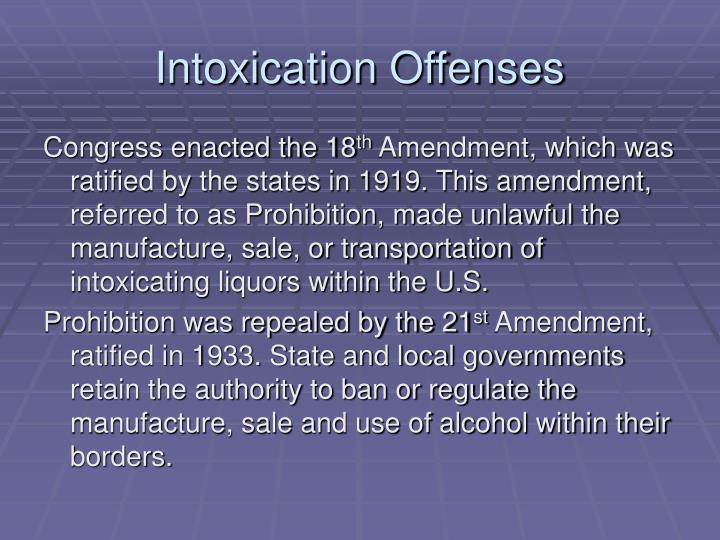 Intoxication Offenses