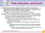 trade education and growth