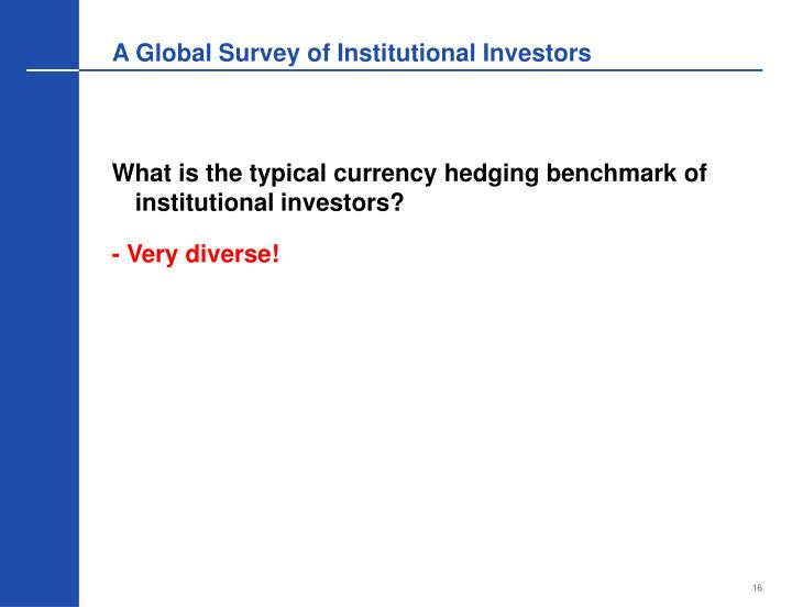 A Global Survey of Institutional Investors