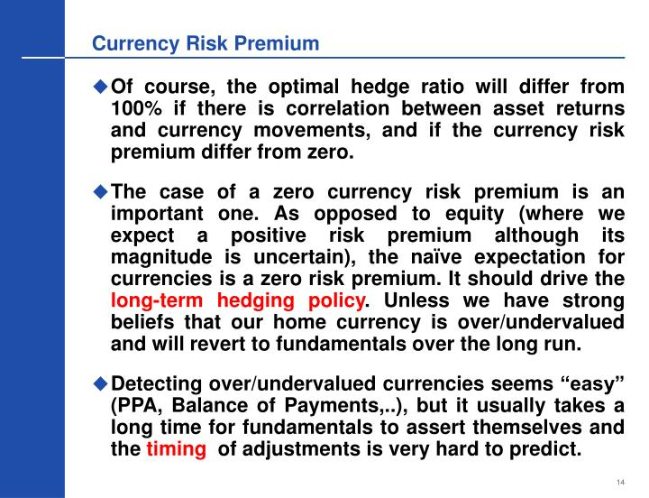 Currency Risk Premium