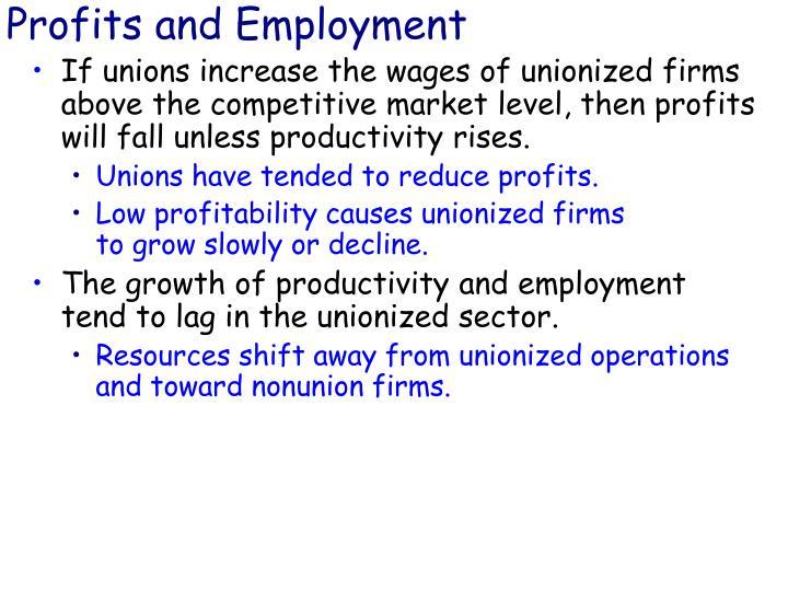 Profits and Employment