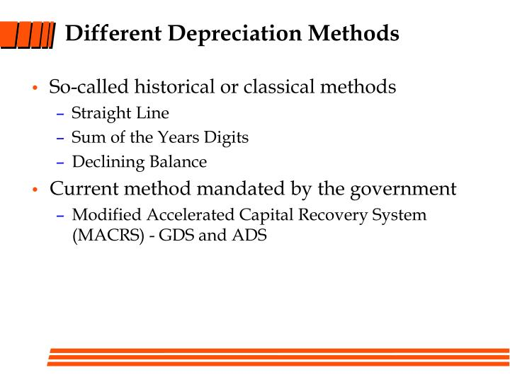 Different Depreciation Methods