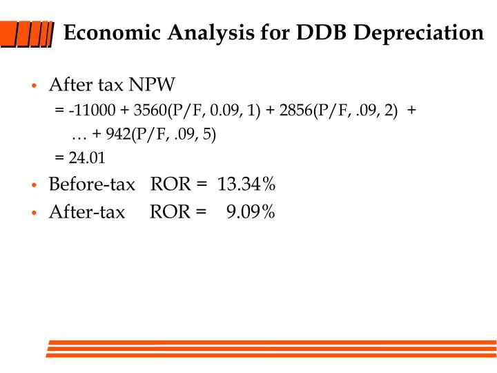 Economic Analysis for DDB Depreciation