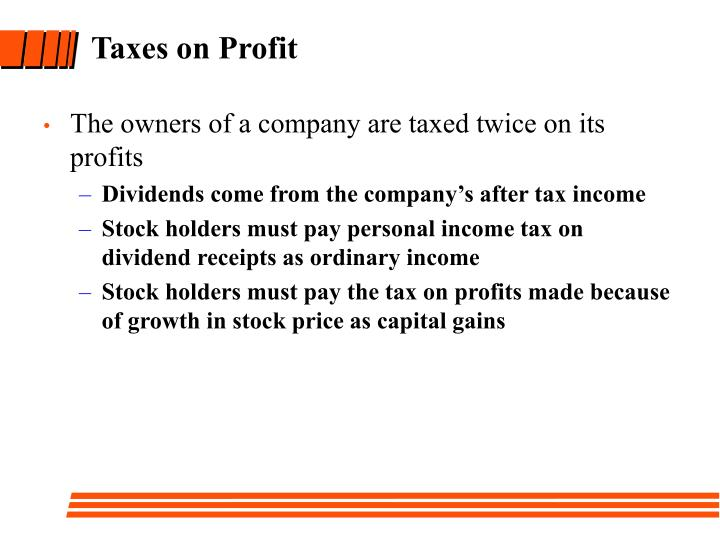 Taxes on Profit