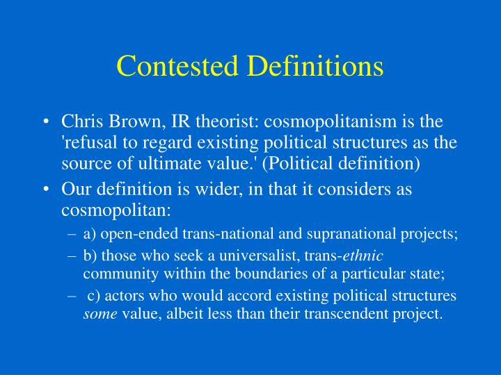 Contested definitions