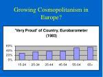 growing cosmopolitanism in europe