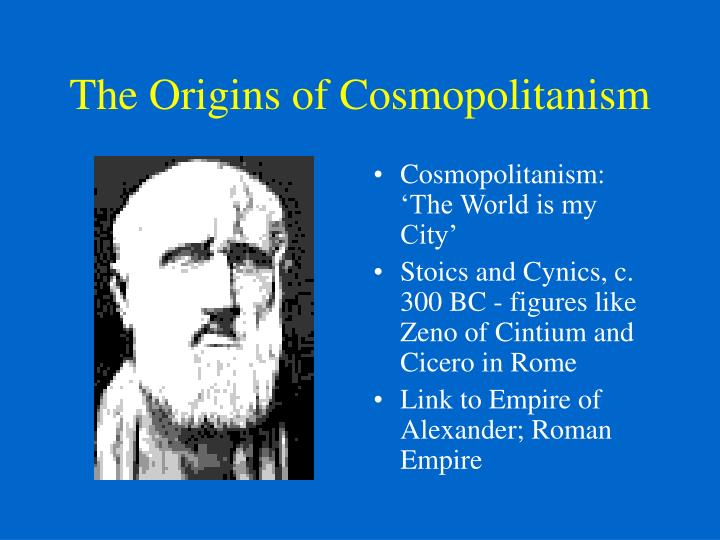 The Origins of Cosmopolitanism
