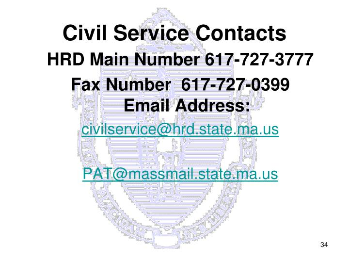 Civil Service Contacts