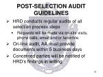 post selection audit guidelines