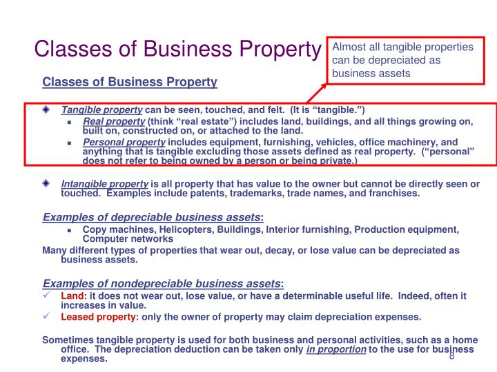 Classes of Business Property